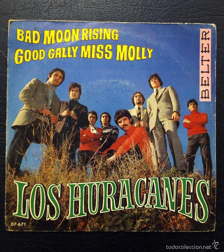 SINGLE LOS HURACANES - BAD MOON RISING - BELTER 1969. (Música - Discos - Singles Vinilo - Otros estilos)