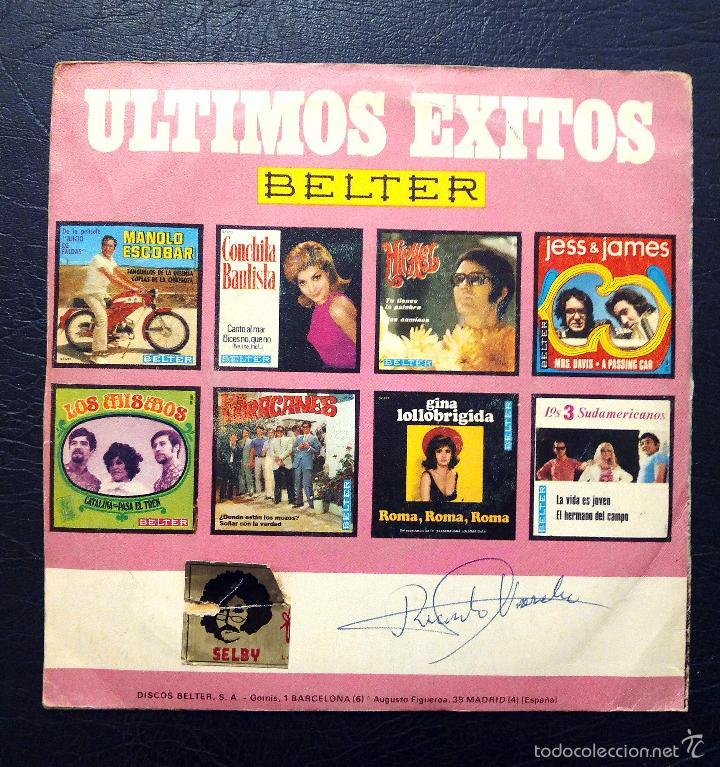 Discos de vinilo: SINGLE LOS HURACANES - BAD MOON RISING - BELTER 1969. - Foto 2 - 58426746