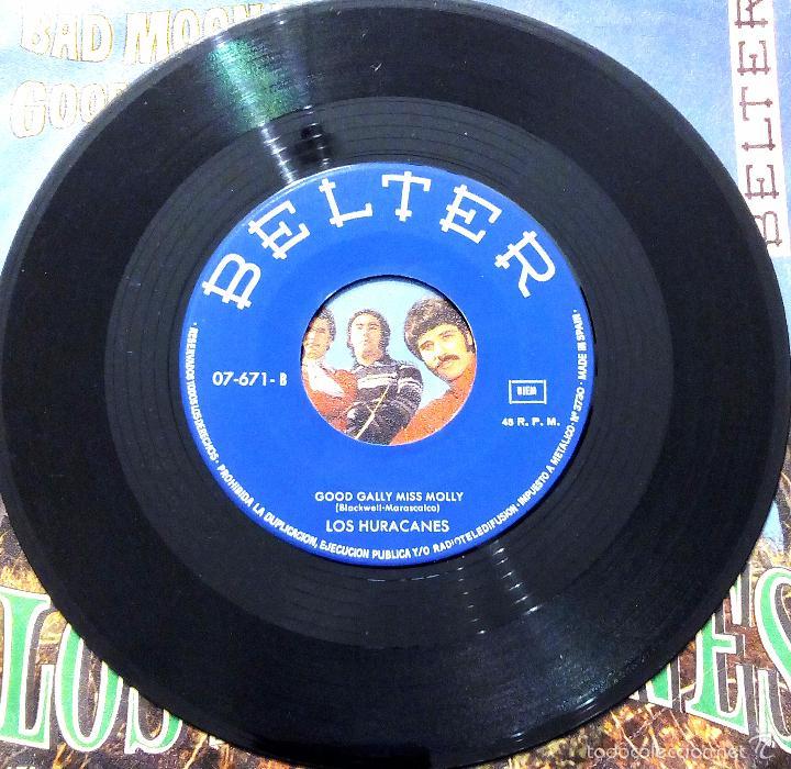 Discos de vinilo: SINGLE LOS HURACANES - BAD MOON RISING - BELTER 1969. - Foto 4 - 58426746