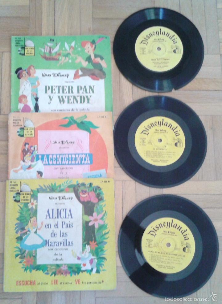 TRES DISCOS- CUENTO- WALT DISNEY - HECHO EN VENEZUELA Y MEXICO 1968 RAROS!! (Música - Discos de Vinilo - EPs - Música Infantil)