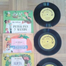 Discos de vinilo: TRES DISCOS- CUENTO- WALT DISNEY - HECHO EN VENEZUELA Y MEXICO 1968 RAROS!!. Lote 58428435