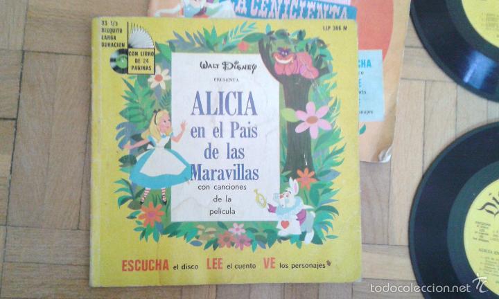 Discos de vinilo: Tres discos- cuento- Walt Disney - Hecho en Venezuela y Mexico 1968 raros!! - Foto 2 - 58428435