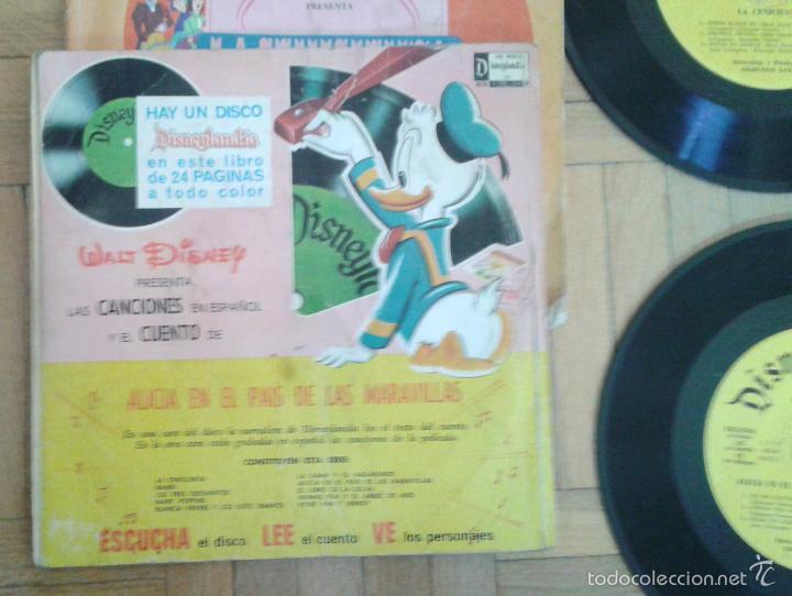 Discos de vinilo: Tres discos- cuento- Walt Disney - Hecho en Venezuela y Mexico 1968 raros!! - Foto 3 - 58428435