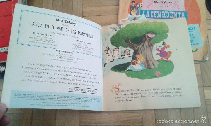 Discos de vinilo: Tres discos- cuento- Walt Disney - Hecho en Venezuela y Mexico 1968 raros!! - Foto 4 - 58428435