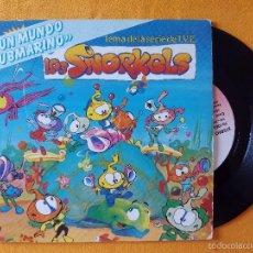 Discos de vinilo: SNORKELS, LOS - UN MUNDO SUBMARINO (VICTORIA) SINGLE - TEMA DE LA SERIE DE TVE. Lote 58430761