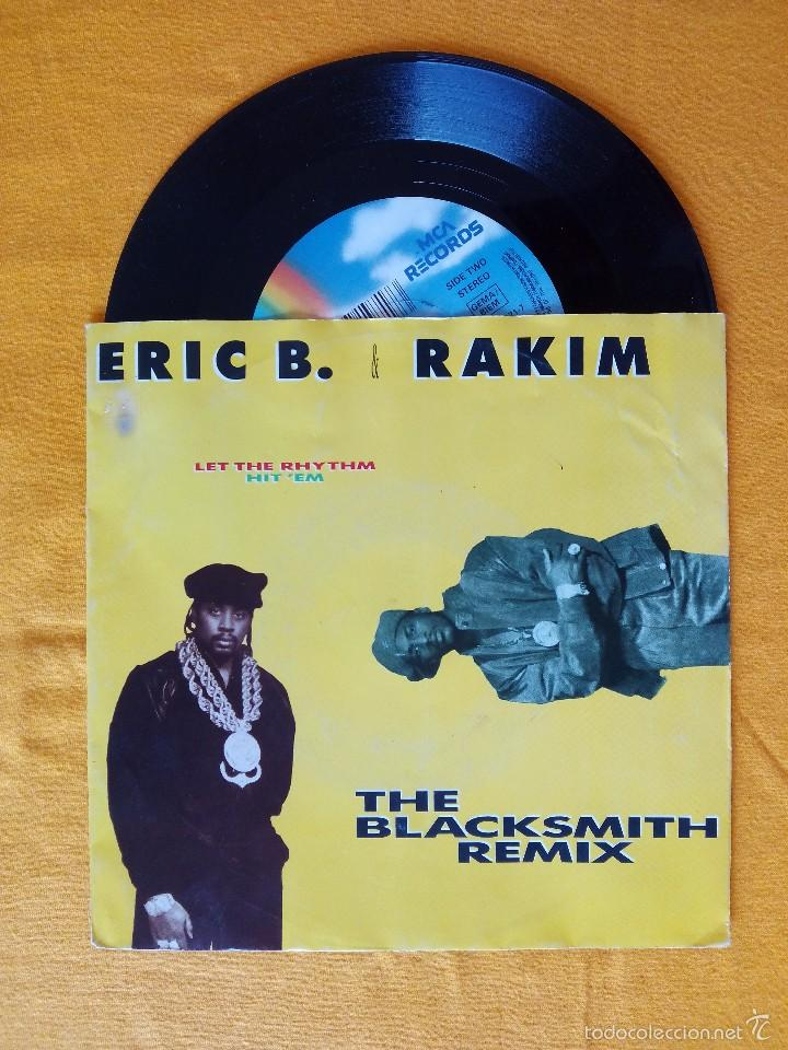 ERIC B. & RAKIM, THE BLACKSMITH REMIX - LET THE RHYTHM HIT 'EM (MCA) SINGLE ALEMANIA (Música - Discos - Singles Vinilo - Rap / Hip Hop)