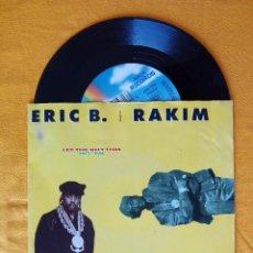 Discos de vinilo: ERIC B. & RAKIM, THE BLACKSMITH REMIX - LET THE RHYTHM HIT 'EM (MCA) SINGLE ALEMANIA. Lote 178874788
