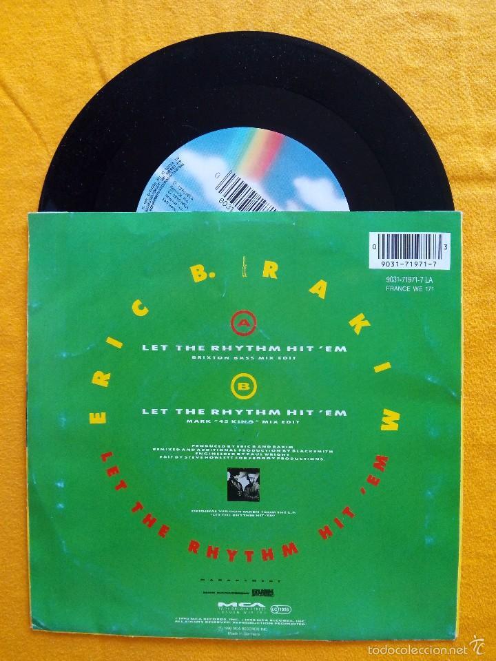 Discos de vinilo: ERIC B. & RAKIM, THE BLACKSMITH REMIX - LET THE RHYTHM HIT EM (MCA) SINGLE ALEMANIA - Foto 2 - 178874788