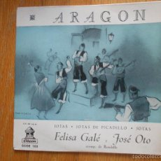 Discos de vinilo: ARAGON JOTAS, JOTAS PICADILLO, FELISA GALE, JOSE OTO. Lote 58437758