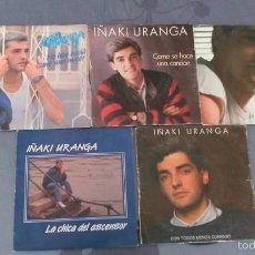Discos de vinilo: LOTE DE 5 SINGLES DE IÑAKI URANGA. Lote 58441452