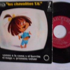 Discos de vinil: LOS CHAVALITOS DE T.V. -EP VAMOS A LA CAMA +3-NUEVO 1964. Lote 58441871