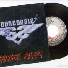 Discos de vinilo: SOBREDOSIS - SANGRE JOVEN - SINGLE. Lote 58442370