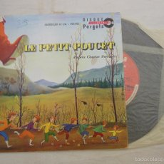 Discos de vinilo: LE PETIT POUCET D'APRÈS CHARLES PERRAULT. PERGOLA, DISQUE ILLUSTRÉ DI 700402. Lote 58447148