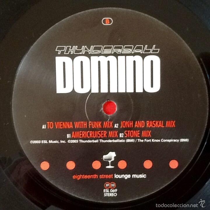 Discos de vinilo: THUNDERBALL : DOMINO [USA 2003] EP 12' - Foto 3 - 55319533