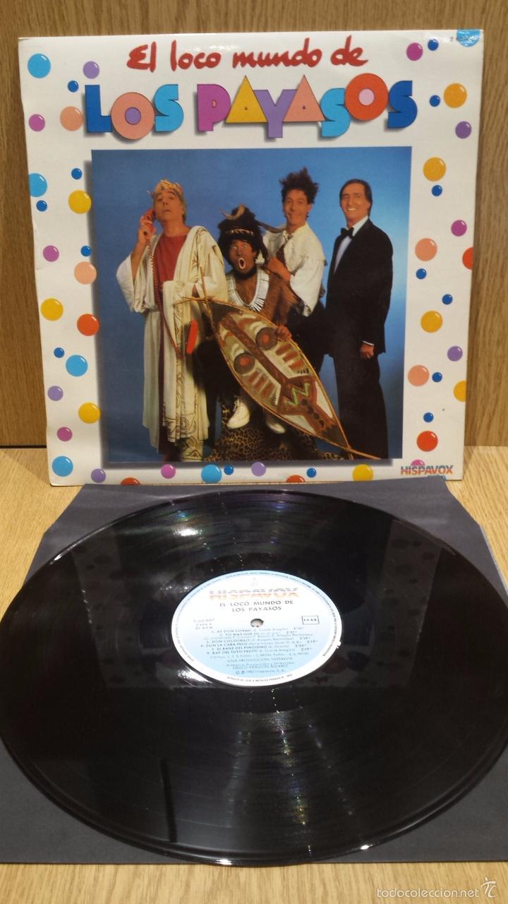 EL LOCO MUNDO DE LOS PAYASOS. LP / HISPAVOX - 1982 / MBC. ***/*** (Música - Discos - LPs Vinilo - Música Infantil)