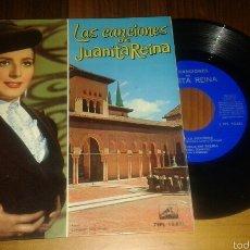 Discos de vinilo: LAS CANCIONES DE JUANITA REINA:CAPOTE DE GRANA Y ORO+3. Lote 58466908