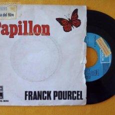 Discos de vinilo: FRANCK POURCEL, PAPILLON (EMI) SINGLE PROMOCIONAL ESPAÑA BSO OST. Lote 58471614