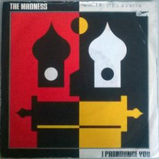 Discos de vinilo: MADNESS. I PRONOUNCE YOU/ PATIENCIE. VIRGIN, UK 1988 SINGLE. Lote 58473168