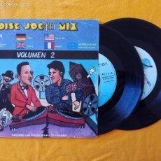 Discos de vinilo: DISC JOCKEY MIX VOLUMEN 2 (KEY) 2 X SINGLE ESPAÑA. Lote 58473399
