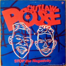 Discos de vinilo: OUTLAW POSSE : STOP THE NEGATIVITY [UK 1990] 12'. Lote 55224121