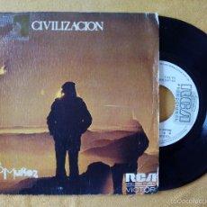 Discos de vinilo: B.B. MUÑOZ, CIVILIZACION (RCA) SINGLE PROMOCIONAL. Lote 58473975