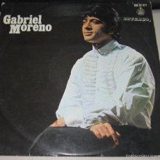 Discos de vinilo: LP GABRIEL MORENO. DE MORERIA VENGO YO. HISPAVOX, MADRID. Lote 58480599
