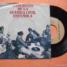Discos de vinilo: CANCIONES DE LA GUERRA CIVIL ESPAÑOLA - SINGLE EDICIONES URBION 1978 PROMO¡¡¡. Lote 58487300