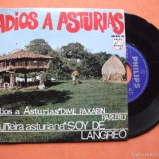 Discos de vinilo: ADIOS A ASTURIAS EP PHILIPS 1966 DIME PAXARIN PARLERU + SOY DE LANGREO +2 COMO NUEVO¡¡. Lote 58487403