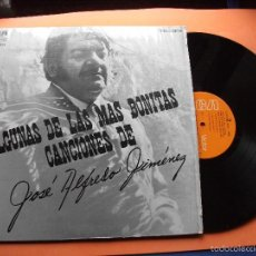 Discos de vinilo: JOSE ALFREDO JIMENEZ LP RCA MEXICO ALGUNAS DE LAS MAS BONITAS CANCIONES DE NUEVO¡¡¡. Lote 58488804