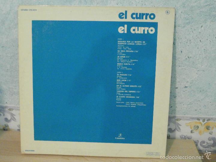 Discos de vinilo: Disco - Vinilo - Lp - El curro - Columbia 1976 - Firmado por el autor - Flamenco Raro y muy escaso - - Foto 4 - 58489617