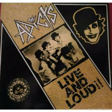Discos de vinilo: THE ADICTS- LIVE AND LOUDS (1987).UK.. Lote 58489903