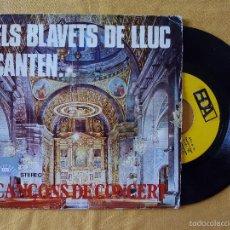 Discos de vinilo: BLAVETS DE LLUC, ELS - CANTEN CANÇONS DE CONCERT (EDA) SINGLE BLAUETS JAUME PALOU JACK WEBB. Lote 58492788