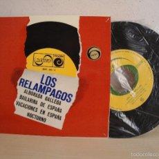 Discos de vinilo: LOS RELAMPAGOS -ALBORADA GALLEGA- EP DE 4 CANCIONES ZAFIRO NOVOLAMADRID- 1966-. Lote 58495577