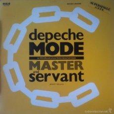 Discos de vinilo: DEPECHE MODE - MASTER AND SERVANT - RCA - SPTO-7473 SPAIN EDICION LIMITADA UNIDAD Nº1462. Lote 58498119