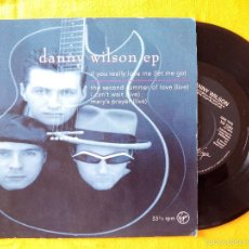 Discos de vinilo: DANNY WILSON EP, IF YOU REALLY LOVE ME (VIRGIN) SINGLE EP. Lote 58504020