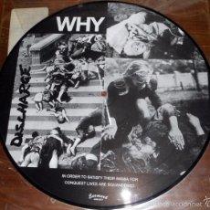 Discos de vinilo: DISCHARGE - WHY (MINILP) PICTURE DISC. Lote 58505629