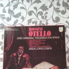 Discos de vinilo: ROSSINI- OTELLO - CARRERAS-VON STADE- PHILHARMONIA ORCHESTRA- LOPEZ COBOS, 3 LP'S. Lote 58506022