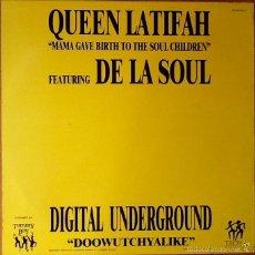 Discos de vinilo: QUEEN LATIFAH FEAT DE LA SOUL : MAMA GAVE BIRTH... [ESP 1990] 12'. Lote 55223922