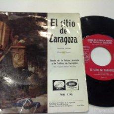 Discos de vinilo: MUSICA SINGLE BANDA DE LA POLICÍA ARMADA Y DE TRÁFICO DE BARCELONA - EL SITIO DE ZARAGOZA 1958 OJ.C. Lote 58514142