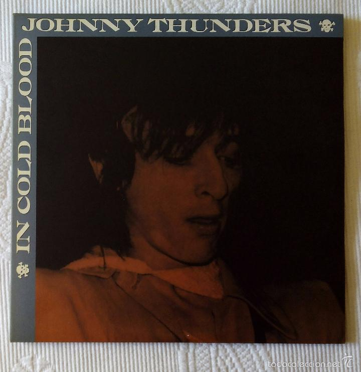 JOHNNY THUNDERS, IN COLD BLOOD (MUNSTER 1998) 2 X LP 10 PULGADAS GARAGE GLAM NEW YORK DOLLS (Música - Discos - LP Vinilo - Punk - Hard Core)
