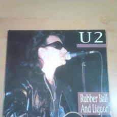 Discos de vinilo: U2 - 2 LP RUBBER BALL AND LIQUOR - EN MUY BUEN ESTADO- VINILO NO OFICIAL-MUY RARO. Lote 58520702