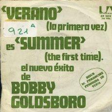 Discos de vinilo: BOBBY GOLDSBORO / VERANO / NIÑEZ (SINGLE PROMO 1974). Lote 58522487