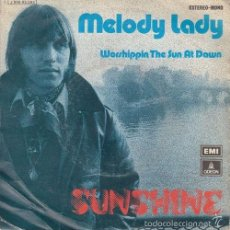 Discos de vinilo: SUNSHINE JACK AREL - MELODY LADY SPANISH SINGLE 45 SPAIN 1974 SYNTH POP DISCO. Lote 58523486
