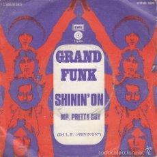 Discos de vinilo: GRAND FUNK RAILROAD SHININ' ON SPANISH SINGLE 45 SPAIN 1974 TODD RUNDGREN. Lote 58523720