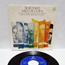 Discos de vinilo: SINGLE SINFONIAS WALDO DE LOS RIOS MOZART. Lote 58530734