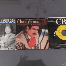 Discos de vinilo: LOTE 3 SINGLES DE VICENTE FERNANDEZ ALGUNO PROMO. Lote 58531746