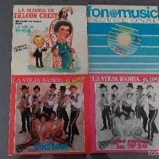 Discos de vinilo: LOTE DE 4 SINGLES LA VIEJA BANDA. Lote 58532234