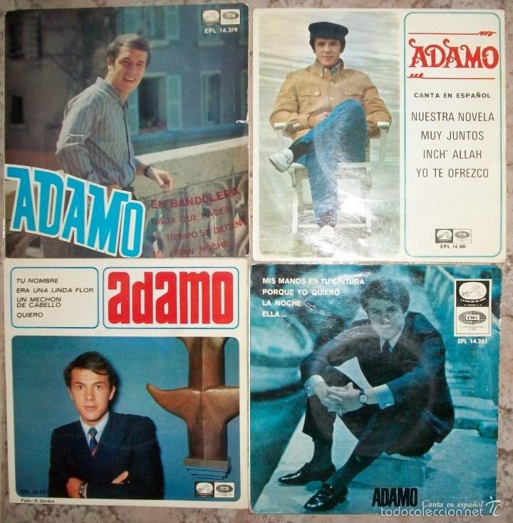 DISCOS (ADAMO) LOTE DE 4 DISCOS 16 CANCIONES (Música - Discos de Vinilo - EPs - Otros estilos)