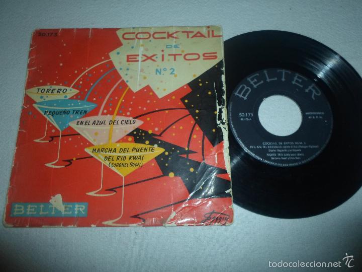 COCKTAIL DE EXITOS Nº 2. EN EL AZUL DEL CIELO / PEQUEÑO TREN / TORERO (Música - Discos de Vinilo - EPs - Bandas Sonoras y Actores)