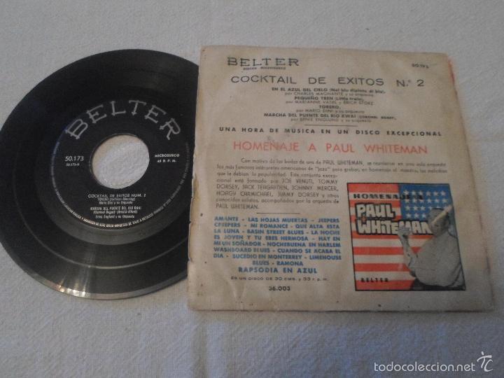 Discos de vinilo: COCKTAIL DE EXITOS Nº 2. EN EL AZUL DEL CIELO / PEQUEÑO TREN / TORERO - Foto 2 - 58536541